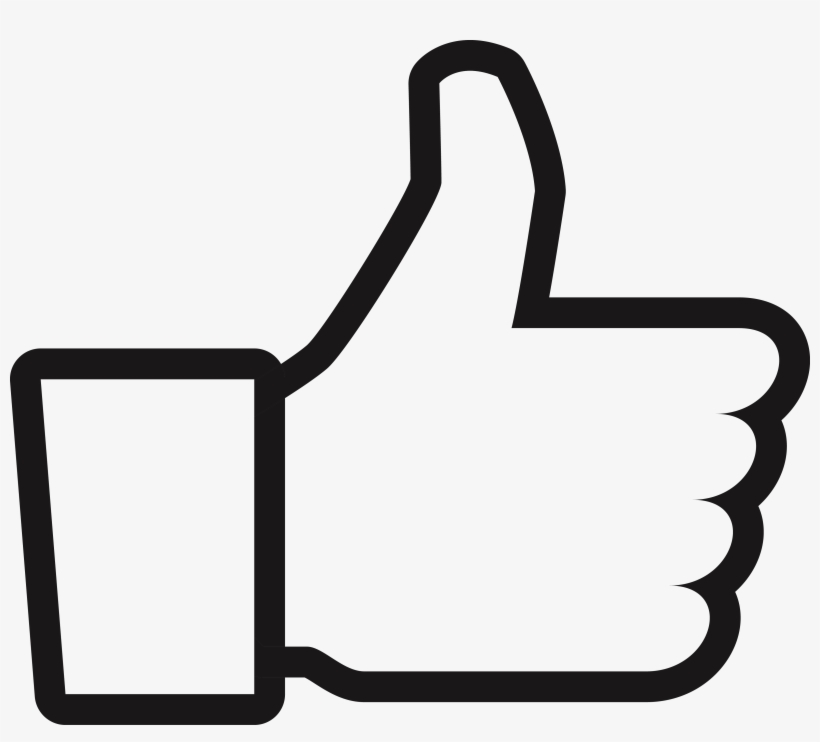 Social Media Facebook Button - Facebook Like Decal, transparent png #129093
