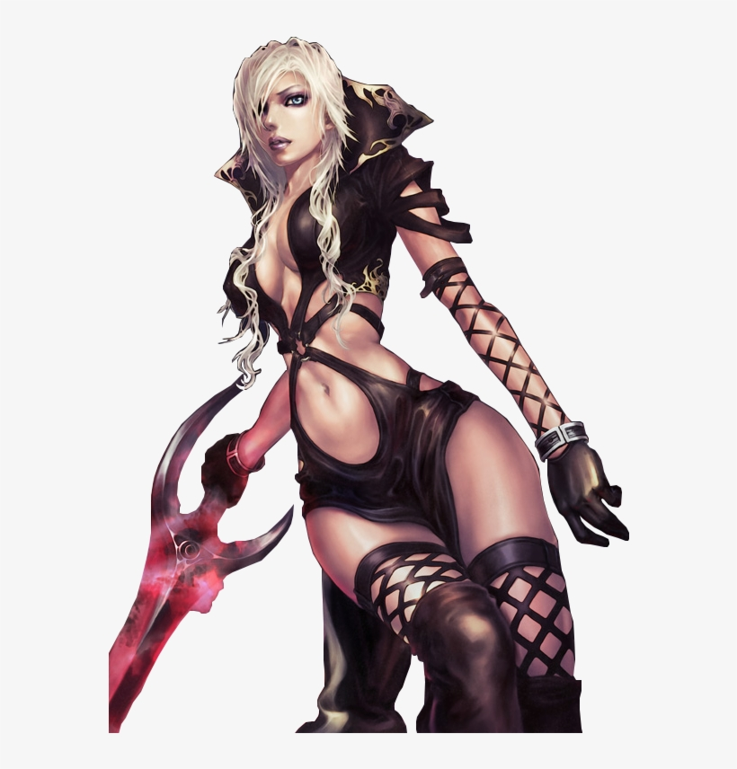 Hot Demon Girl - Anime Warrior Sexy Girl, transparent png #129431