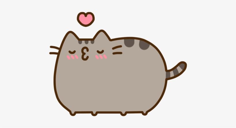 Pusheen Kiss Pusheen The Cat Free Transparent Png Download Pngkey