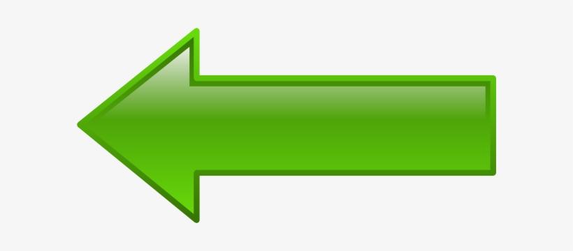 Green Arrowhead Left Clipper - Green Arrow Pointing Left, transparent png #1200457