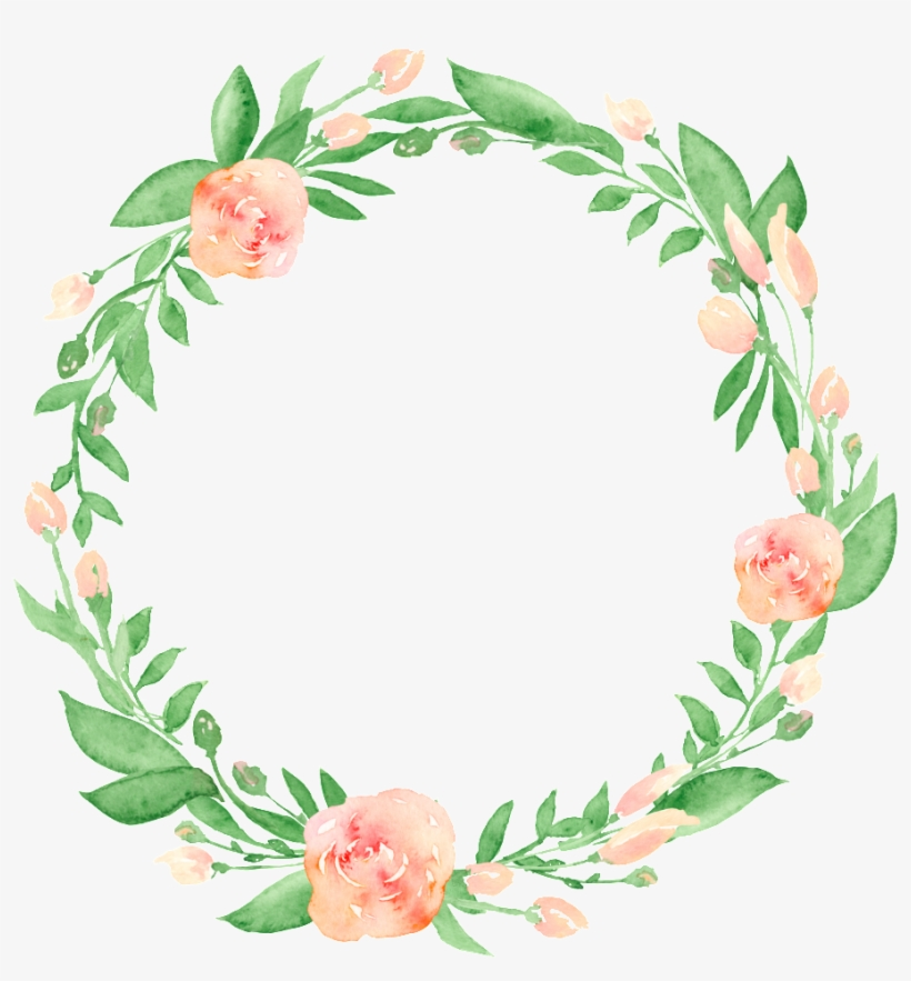 Corona Png Transparente - Watercolor Wreath Transparent Background, transparent png #1201642