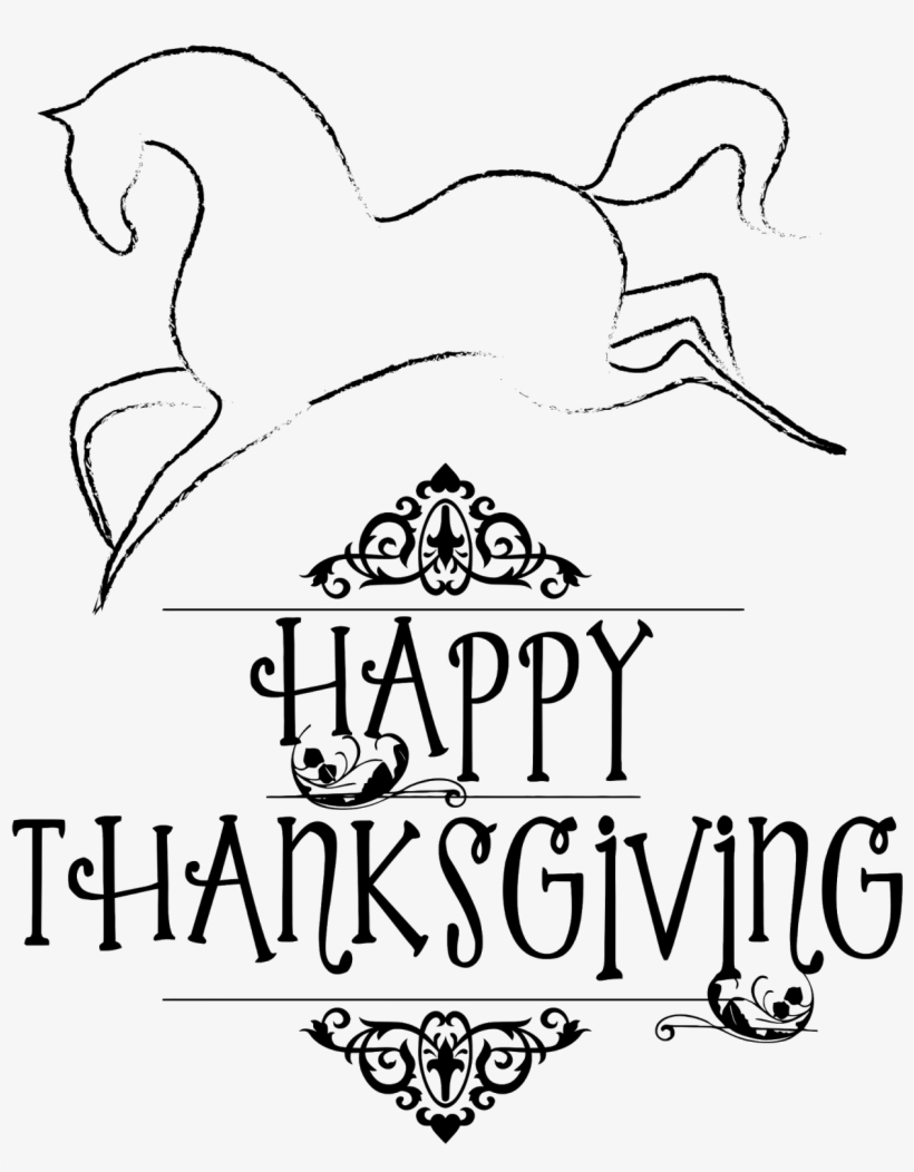 Free Horse Personal And Commercial Use - Happy Thanksgiving With Horses, transparent png #1201989
