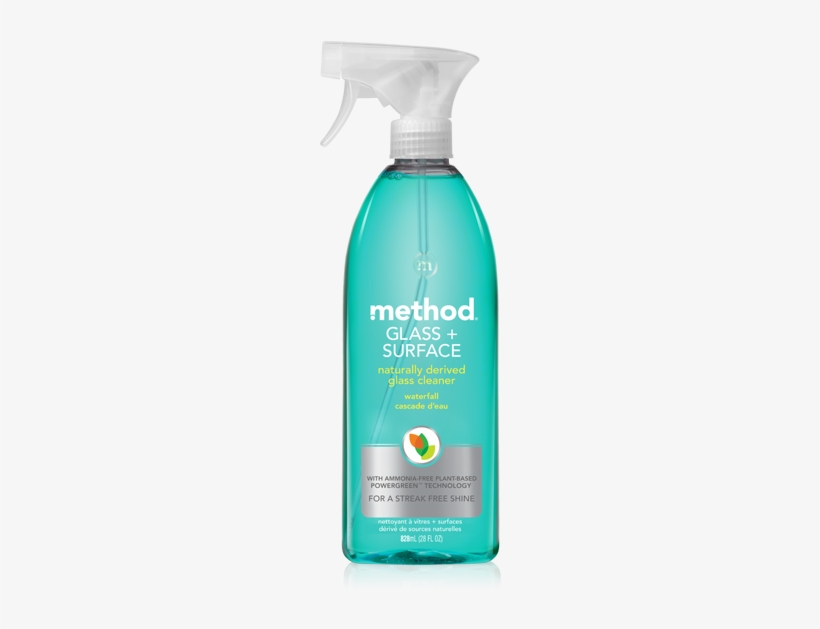 Glass Surface Cleaner - Method Glass + Surface Natural Glass Cleaner, transparent png #1202033