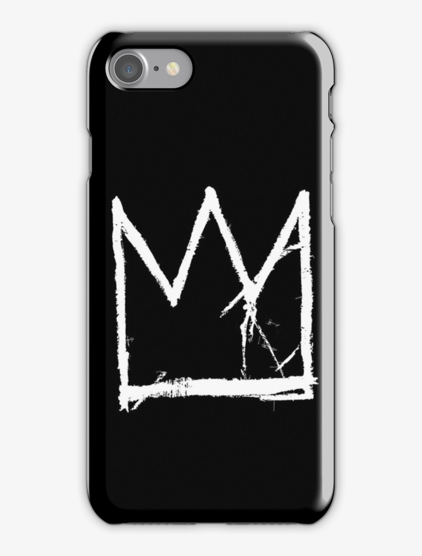 Basquiat King Crown Black Iphone 7 Snap Case - Mu Hero Academia Case Iphone 7, transparent png #1203907