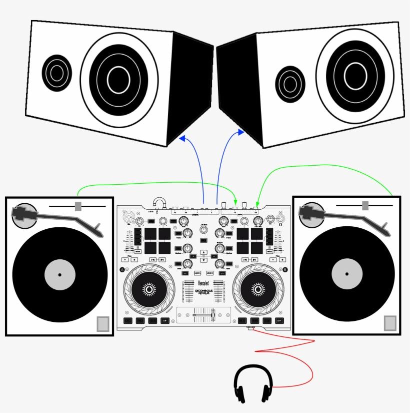 Speakers Clipart Dj Mixer - Hercules Rmx 2 Timecode - Free