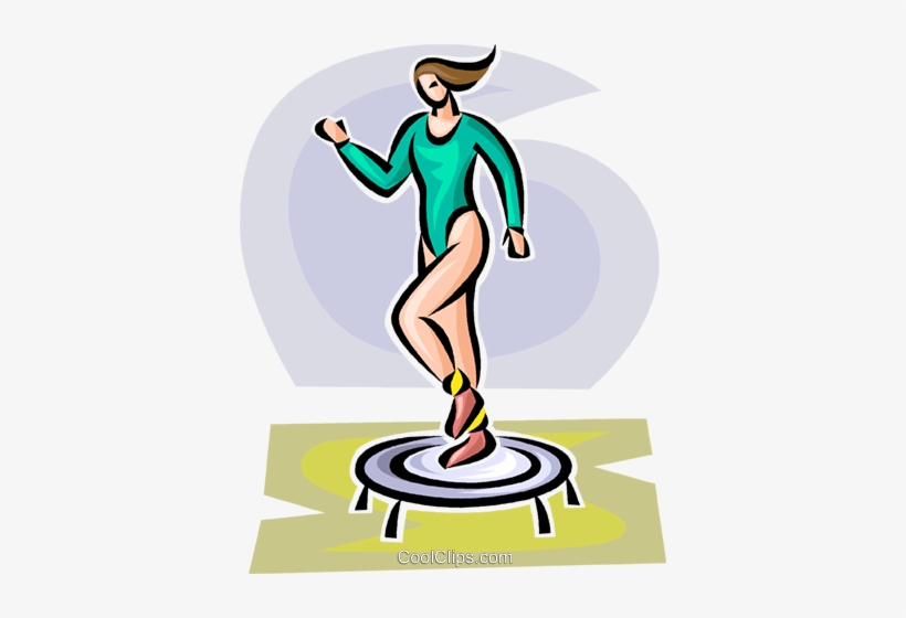 Woman Working Out On A Small Trampoline Royalty Free - Woman Trampoline Clipart Transparent, transparent png #1207363