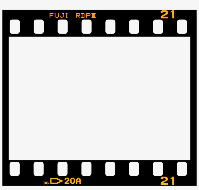 Fuji Border Film Frame Filmframe Vintage - Film Strip, transparent png #1208534