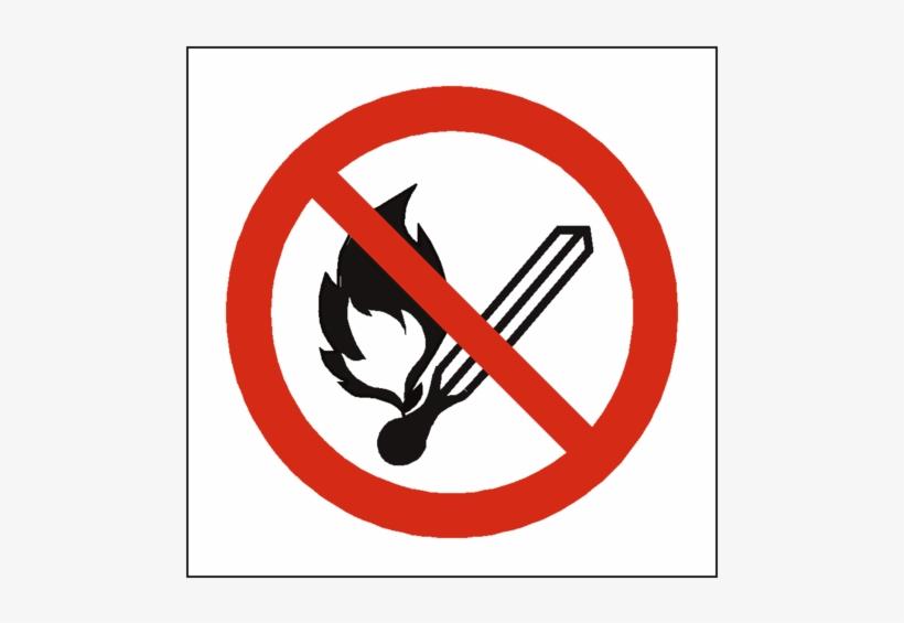 No Open Flame Symbol Sign - No Open Flames Sign, transparent png #1209260