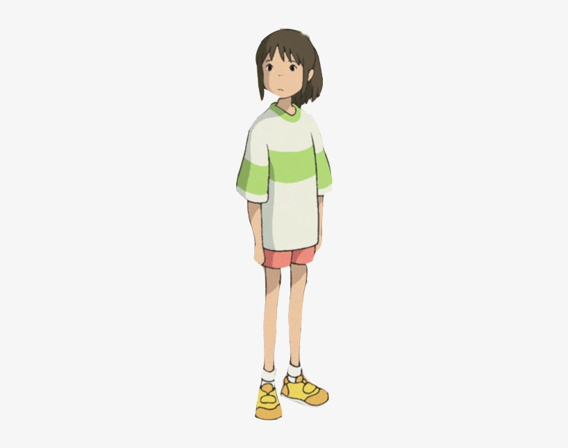 Spirited Away Halloween Costumes Trips Chihiro Standing Free Transparent Png Download Pngkey