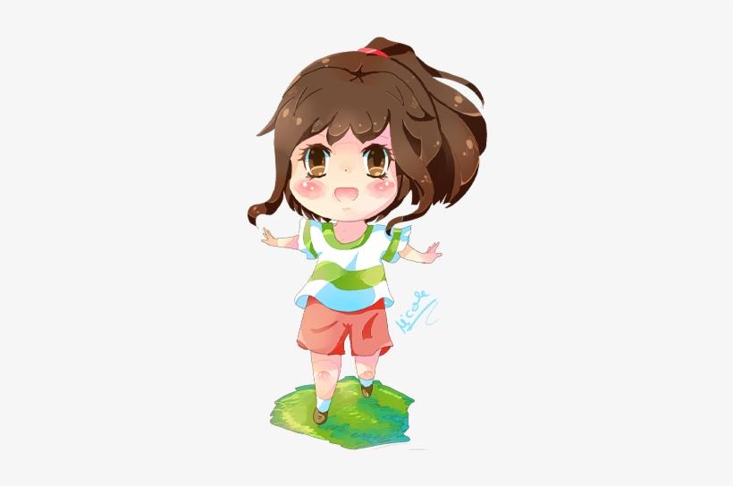 Spirited Away Art Spirited Away Chihiro Chibi Free Transparent Png Download Pngkey