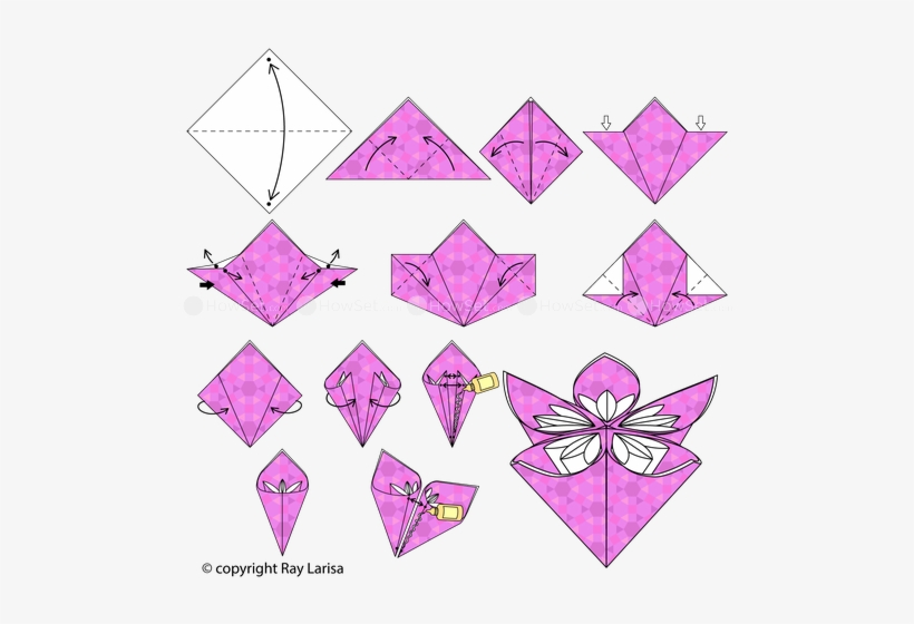How to make Origami Flowers | Projects of Hanna Zoon | 560x820