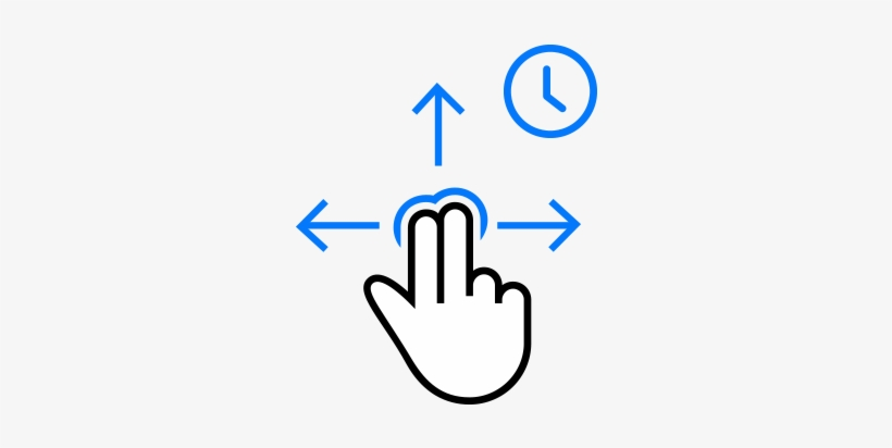Hold Two Fingers And Move - Arrows Up Down Left Right, transparent png #1212642