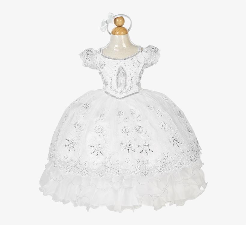 H - Vestido De Bautizo Con La Virgen De Guadalupe, transparent png #1213159