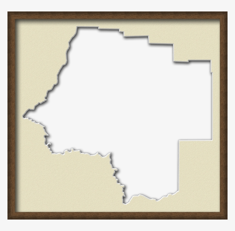 A Map Of Levy With A Wood Picture Frame With A Cream - Rustic Wood Frame, transparent png #1213823