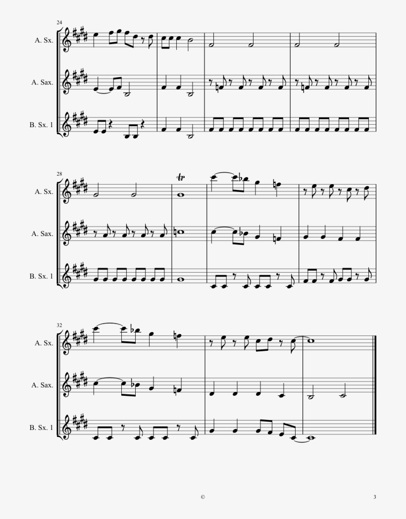 Bob The Builder Sheet Music Composed By Michael A 3 - Bob The Builder Alto Saxophone, transparent png #1214020
