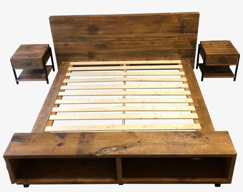 Benjamin Bed, Reclaimed Wood Platform Bed - Barn Wood Platform Bed, transparent png #1214093