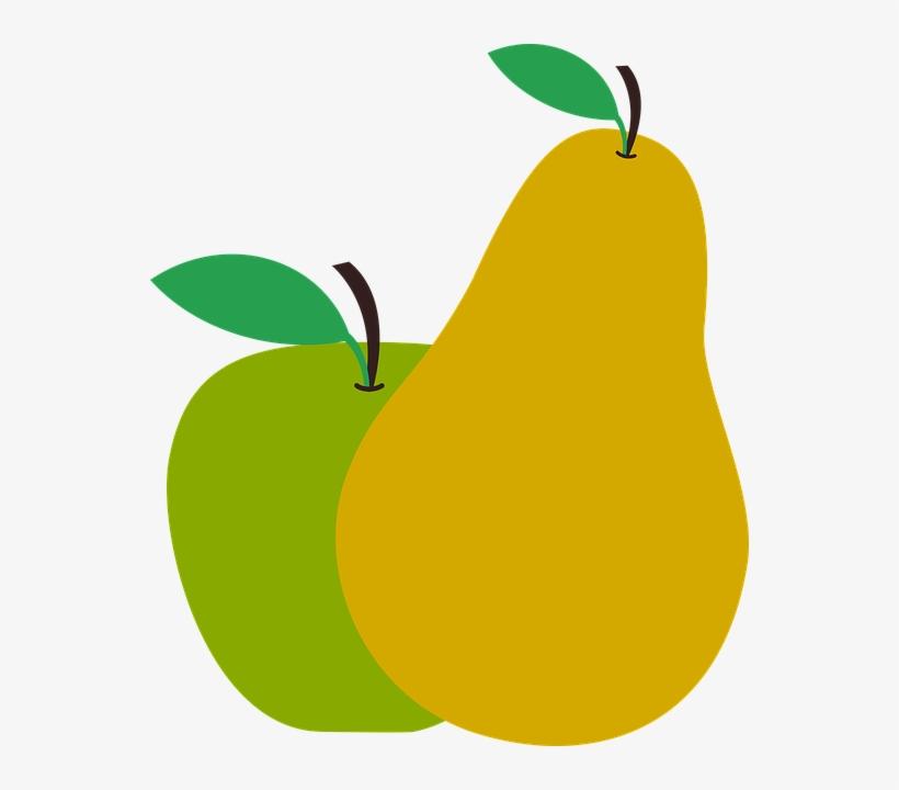 Alfredo, Su Marido, Le Pregunta Cuántas Peras Ha Recogido - Apple And Pear Clipart, transparent png #1214247