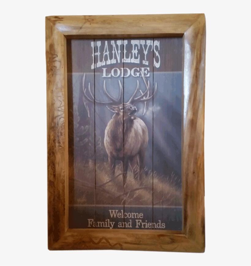 Aspen Log Picture Frame - Elk Canvas Painting Iphone 6 / 6s Phone Case, transparent png #1214411