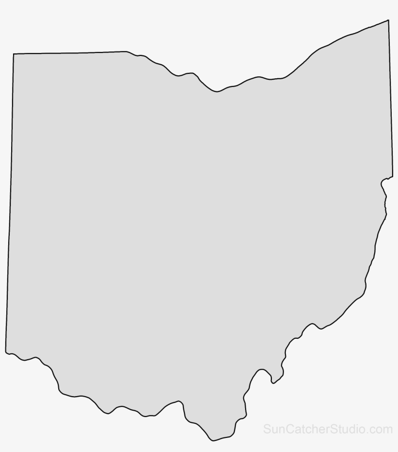 Ohio Map Outline Png Shape State Stencil Clip Art Scroll Ohio