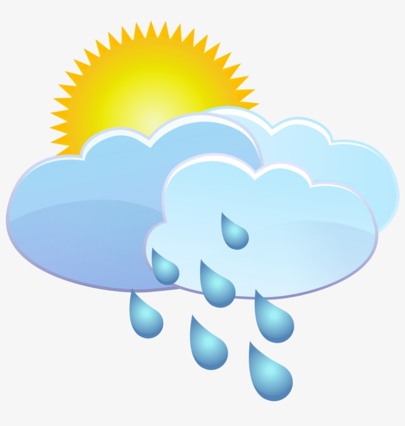 Free Png Clouds Sun And Rain Drops Weather Icon Png - Transparent Animated Weather Animated, transparent png #1215478