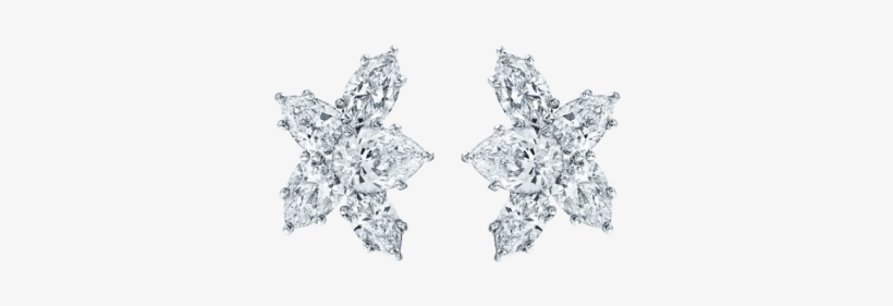 Winston™ Cluster By Harry Winston, Large Diamond Earrings - Harry Winston Cluster Earrings, transparent png #1217487
