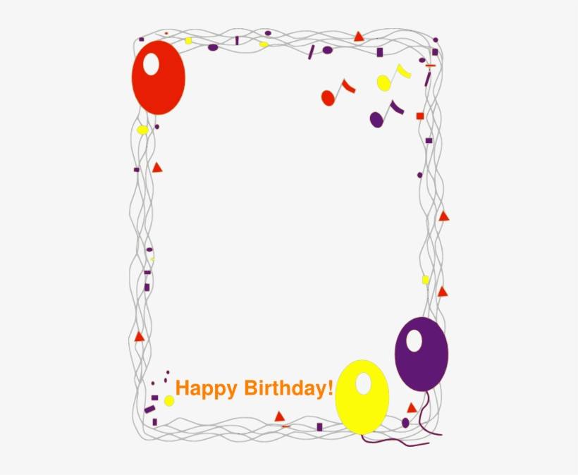 Birthday Boarder Png - Happy Birthday Border Png, transparent png #1217925