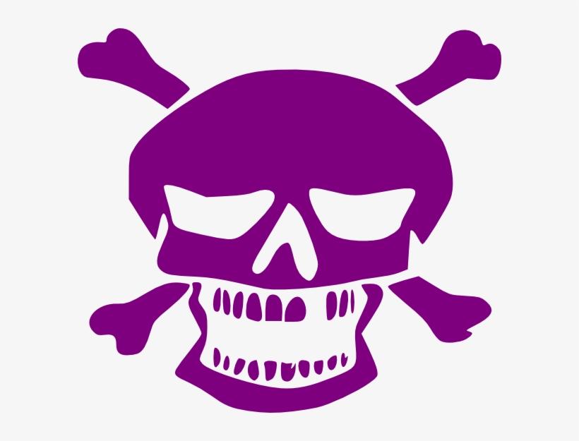 Purple Skull Clip Art At Clker - Skull Purple Watercolor Shower Curtain, transparent png #1219483