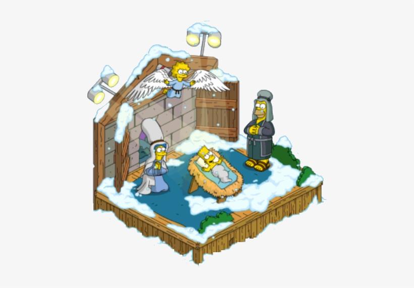 Nativity - Simpsons Nativity Scene, transparent png #1221781