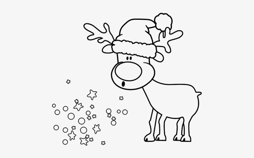 Dibujo De Reno Con Gorro Para Colorear Christmas Cards Rena De