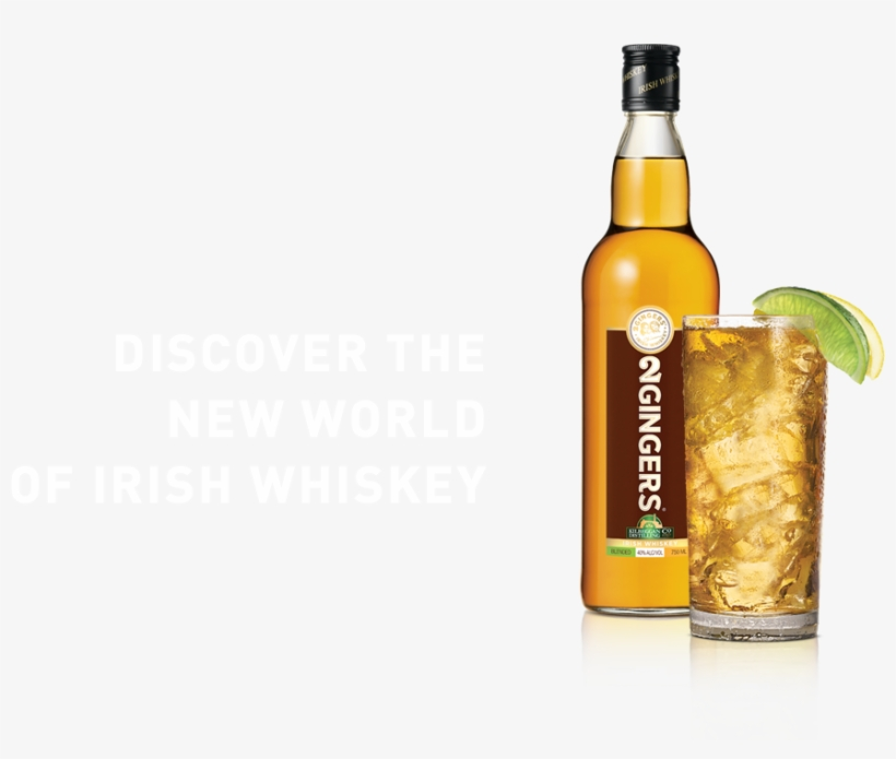 Bottle-glass - 2 Gingers Irish Whiskey - 750 Ml Bottle, transparent png #1222472