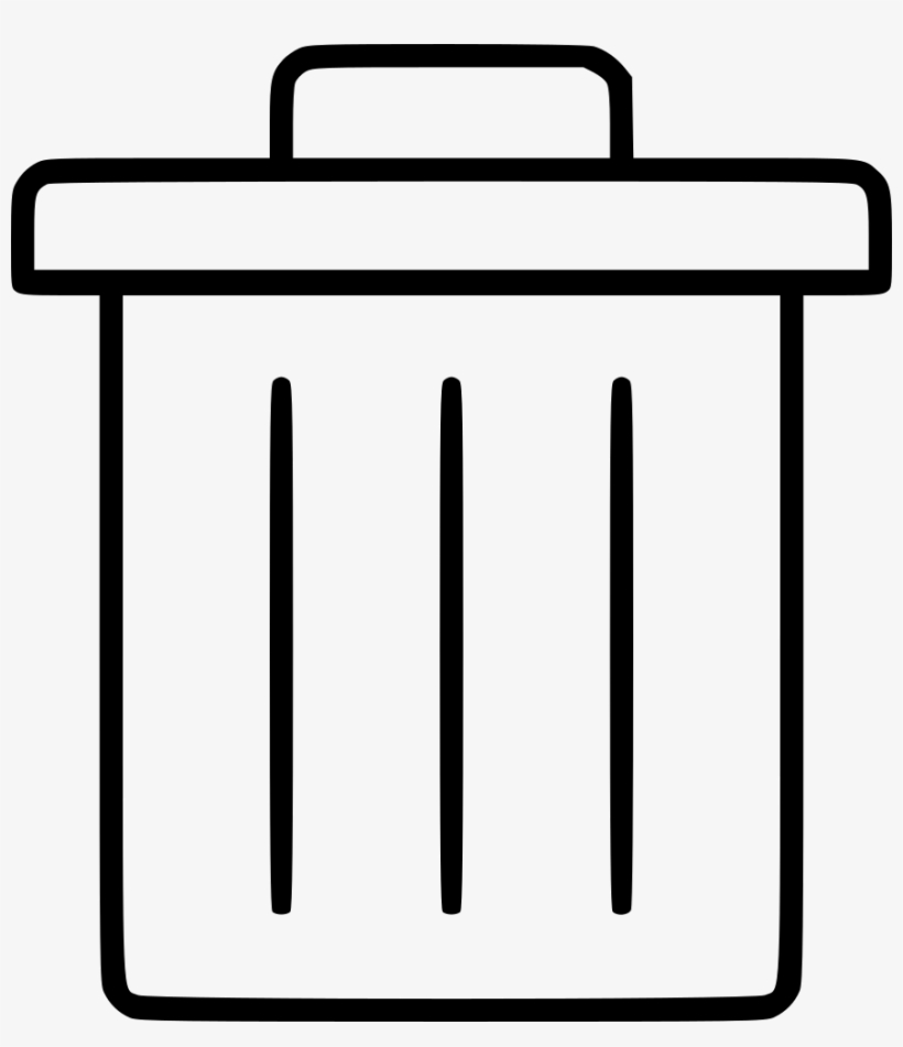 Bin Can Cancel Delete Dustbin Trash Trashcan Comments - Waste Container, transparent png #1222640