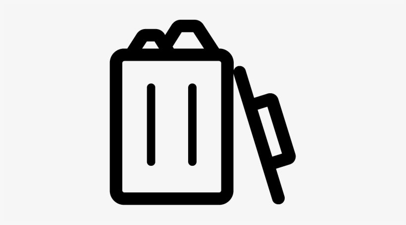 Trashcan Full - Icon Full Trash Can, transparent png #1222694