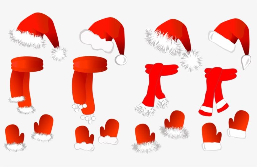 Picture Transparent Download Claus Sombrero De La Bufanda - Christmas Set: Santa Claus Hat, Scarf A Large Mug, transparent png #1222870
