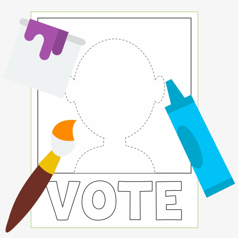 Poster Of A Blank Vote Poster For You To Color - Political Campaign, transparent png #1222931