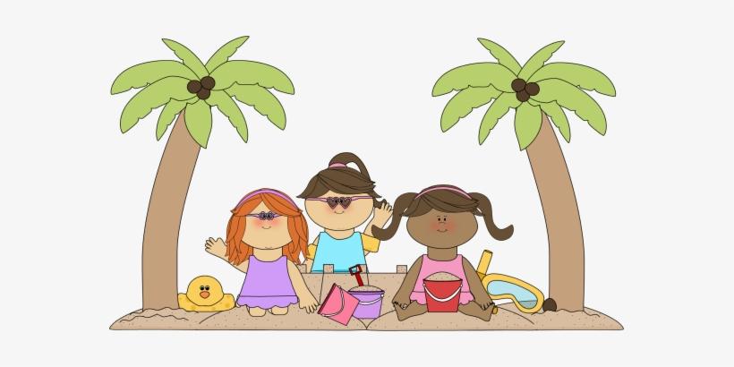Sandy Beach Clipart June Beach - Kids At The Beach Clip ...