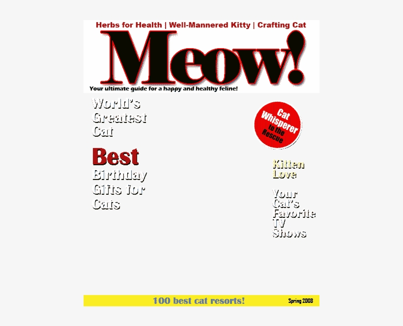 Cat Magazine Cover Template Free Transparent Png Download Pngkey