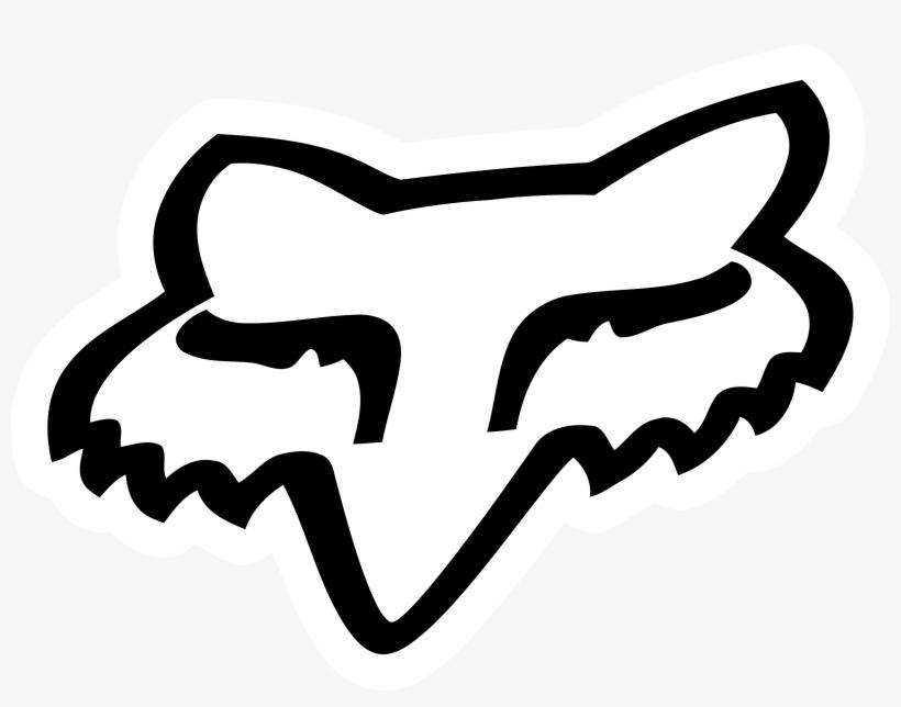 Fox Racing Logo Png Jpg Black And White Stock - Fox Racing, transparent png #1224413