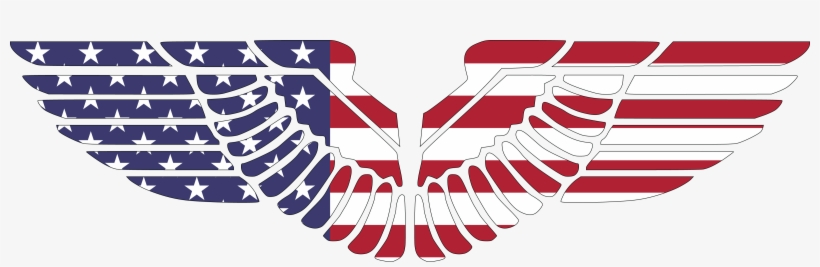 American Flag Eagle Wings Free Transparent Png Download Pngkey
