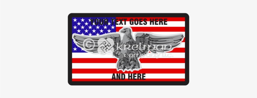 K112 Iron Bald Eagle Over American Flag - Flag Of The United States, transparent png #1225523