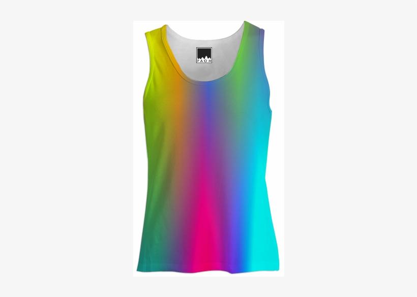 Shop Rainbow Tank Top Women Tank Top Women By Christy - Top Women Png, transparent png #1225682