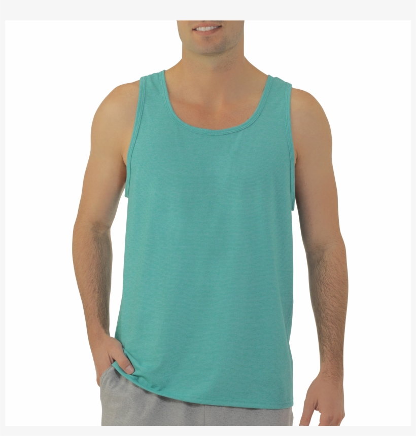 Men's Jersey Tank Top Extended Sizes - Fruit Of The Loom Big Men's Jersey Tank Top, transparent png #1226431