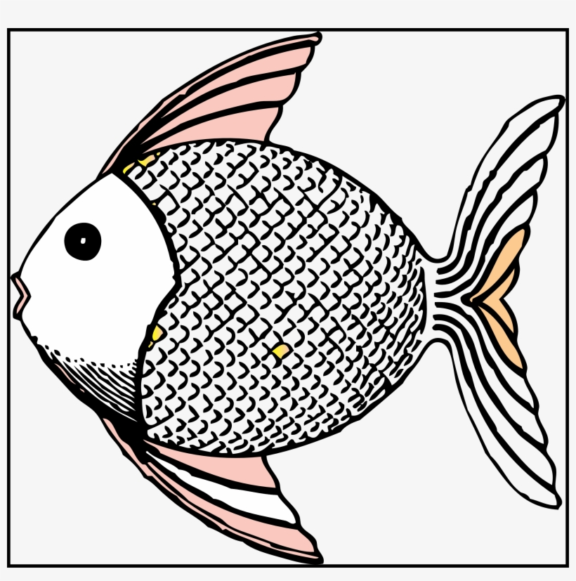 Fishbowl Clipart Black And White Scaly Fish Clipart Black And