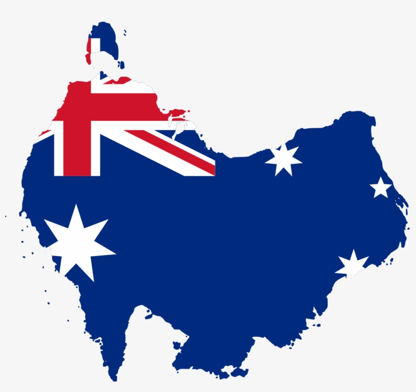 Australia Map Png.Australia Flag Map South At Top Australia Flag Map Vector Free