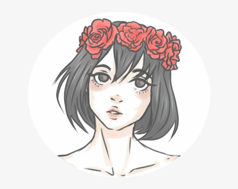 Aesthetic Flower Crown Icon Ayano On Deviantart Png - Anime Drawing, transparent png #1231385
