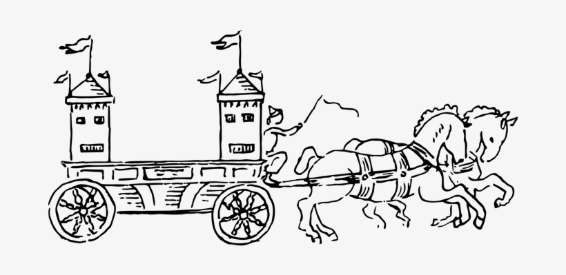 Banner Library Stock Princess Drawing At Getdrawings - Graphic Carriage Horse, transparent png #1231557
