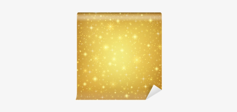 Abstract Golden Background With Sparkling Stars - Komar Wall Mural Xxl, transparent png #1232609