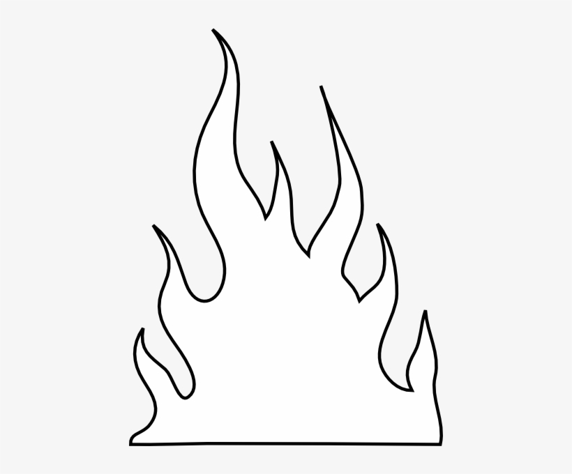 Flames Outlines Clip Art White Flames Clipart Free Transparent Png Download Pngkey