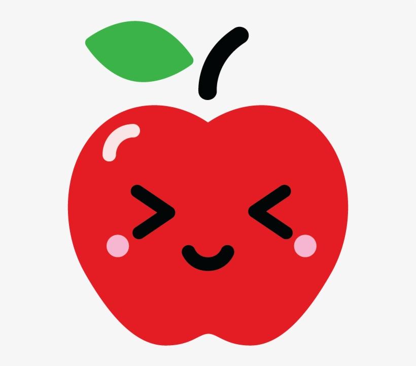 Apple kawaii. Caramel fruit clip art