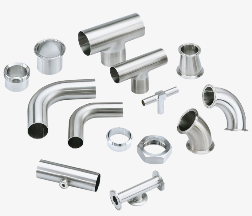 Stainless Steel Railing Accessories - Steel Pipe Fittings Png, transparent png #1237724