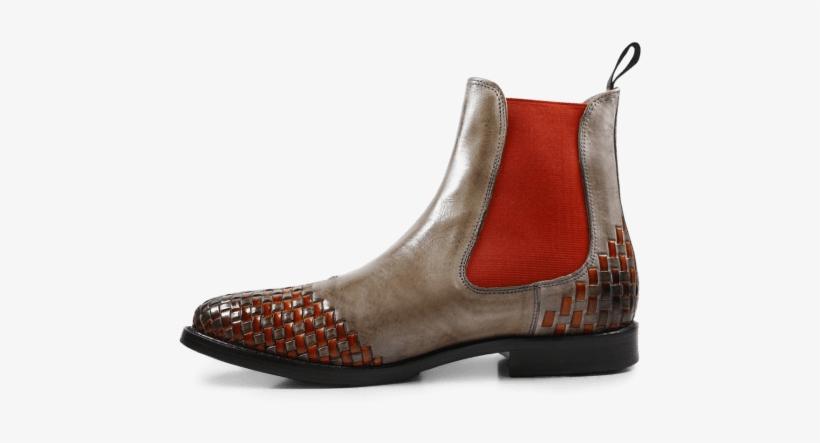 Chelsea Orange Ankle Smoke 10 Boot Elastic Boots Molly Interlaced 0q0UwR